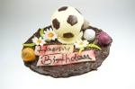 Mandelsplitterplatte  Happy Birthday  mit Fußball  300g